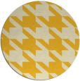 rug #406249 | round yellow retro rug