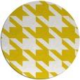 rug #406261   round yellow retro rug