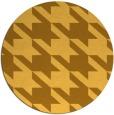 rug #406265 | round yellow retro rug