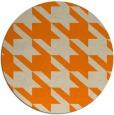 rug #406277 | round orange retro rug