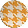 rug #406309 | round light-orange retro rug