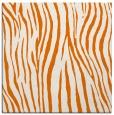 rug #406857 | square orange stripes rug