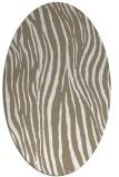 rug #407017 | oval white stripes rug