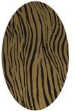 rug #407037 | oval mid-brown stripes rug