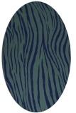 rug #407049   oval blue popular rug