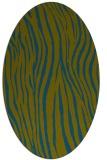 rug #407077   oval green animal rug