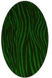 rug #407085   oval green animal rug