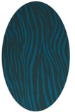 rug #407097 | oval blue animal rug