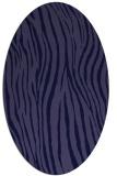 rug #407101 | oval blue-violet animal rug