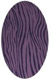 rug #407113   oval blue-violet animal rug