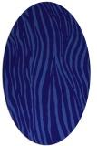 rug #407121 | oval blue-violet animal rug