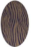 rug #407125 | oval blue-violet animal rug