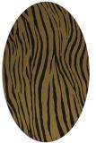 rug #407133 | oval mid-brown stripes rug