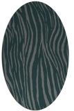 rug #407145   oval green animal rug