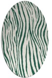 rug #407149 | oval green animal rug