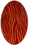 rug #407205 | oval red-orange rug