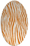 rug #407209 | oval orange stripes rug