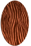 rug #407217 | oval red-orange stripes rug