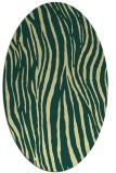 rug #407221   oval yellow rug