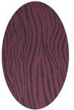 rug #407241 | oval purple stripes rug