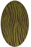 rug #407245 | oval purple animal rug
