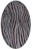 rug #407253 | oval purple stripes rug