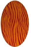 rug #407261 | oval orange stripes rug