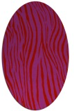 rug #407269 | oval red stripes rug