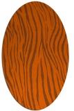 rug #407281 | oval red-orange animal rug