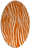 rug #407285 | oval red-orange stripes rug