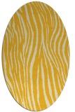 rug #407305   oval yellow animal rug