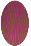 rug #407345 | oval light-green animal rug