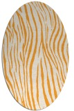 rug #407365 | oval white animal rug