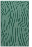 rug #407425    blue-green animal rug