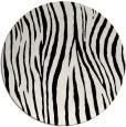 rug #407725 | round white animal rug