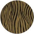 rug #407741 | round brown stripes rug