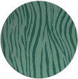 rug #407777 | round blue-green stripes rug
