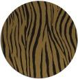 rug #407837 | round mid-brown stripes rug
