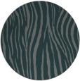 rug #407849 | round blue-green animal rug