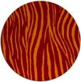 rug #407909 | round red-orange popular rug
