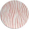 rug #407941 | round white animal rug