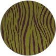 rug #407949 | round green animal rug