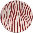 rug #407969 | round red stripes rug