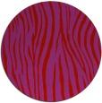 rug #407973 | round red stripes rug