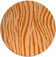 rug #407981   round red-orange animal rug