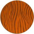 rug #407985   round red-orange animal rug