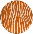 rug #407989 | round red-orange animal rug