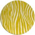 rug #407997 | round white animal rug