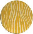 rug #408009   round yellow animal rug