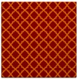 rug #410373 | square red-orange traditional rug